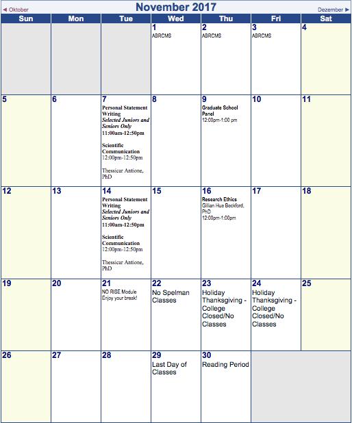Nov 2017 calendar